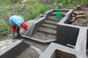 The Water Project: Mahira Community, Kusimba Spring -  Spring Plaster Works