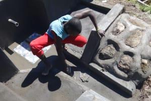 The Water Project: Mahira Community, Kusimba Spring -  Spring Floor Plaster
