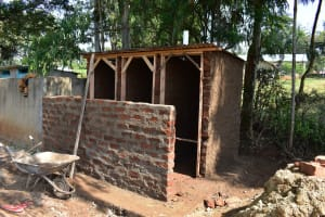 The Water Project: Ebubole UPC Secondary School -  Latrine Construction