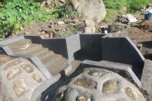 The Water Project: Mahira Community, Kusimba Spring -  Spring Under Construction