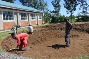 The Water Project: Friends School Vashele Secondary -  Excavation Of Tank Construction Site