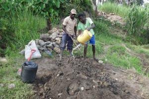 The Water Project: Mahira Community, Kusimba Spring -  Cement Works