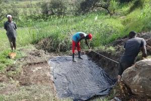 The Water Project: Mahira Community, Kusimba Spring -  Spring Measurements