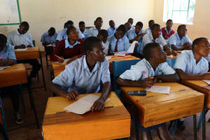 The Water Project: Friends School Vashele Secondary -  Students Keenly Following The Trainings