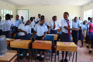The Water Project: Friends School Vashele Secondary -  Mid Morning Stretch