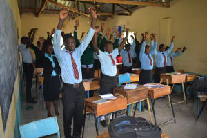 The Water Project: Ebubole UPC Secondary School -  Some Exercise To Keep The Mood Good