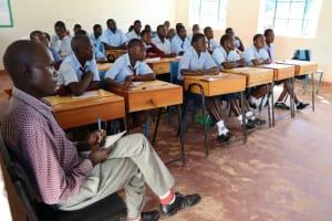 The Water Project: Friends School Vashele Secondary -  Sanitation Teacher Mr Wanja Following The Training