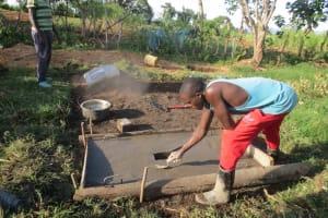 The Water Project: Mahira Community, Kusimba Spring -  Latrine Slab Construction