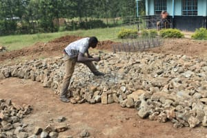 The Water Project: Ebubole UPC Secondary School -  Laying Of The Foundation
