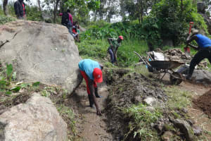 The Water Project: Mahira Community, Kusimba Spring -  Drainage Opening