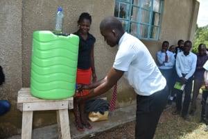 The Water Project: Ebubole UPC Secondary School -  Handwashing Demonstration