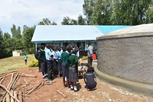 The Water Project: Ebubole UPC Secondary School -  On Maintance Of Rain Tank