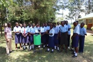 The Water Project: Friends School Vashele Secondary -  Handwashing Demonstration