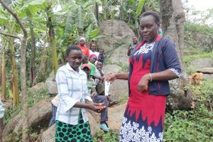 The Water Project: Mahira Community, Kusimba Spring -  Handwashing With Sanitizers