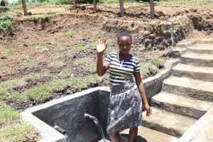 The Water Project: Mahira Community, Jairus Mwera Spring -  Agness At The Water Point
