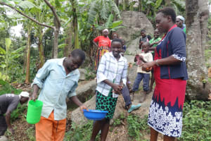 The Water Project: Mahira Community, Kusimba Spring -  Handwashing Demonstration