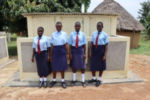 The Water Project: Friends School Vashele Secondary -  Students At Completed Latrines