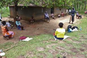 The Water Project: Masera Community, Ernest Mumbo Spring -  Community Members Attending Covid Sensitization Training