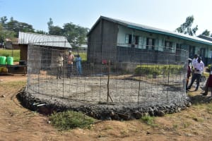 The Water Project: Ebubole UPC Secondary School -  Construction Of Foundation And Wall