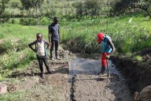 The Water Project: Mahira Community, Kusimba Spring -  Foundation Laying