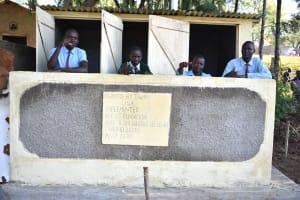 The Water Project: Ebubole UPC Secondary School -  Boys Posing At Their New Latrines