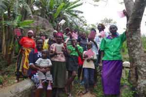 The Water Project: Mahira Community, Kusimba Spring -  Community Members Pose For Pics