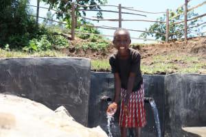 The Water Project: Mahira Community, Jairus Mwera Spring -  Big Smiles At The Spring