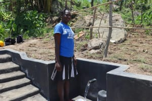 The Water Project: Mahira Community, Kusimba Spring -  Posing At The Completed Spring