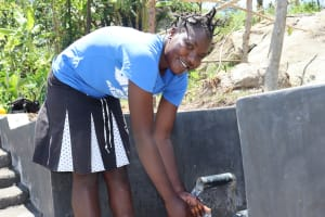 The Water Project: Mahira Community, Kusimba Spring -  Smiles At The Spring