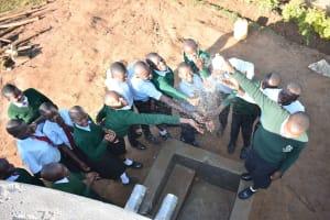 The Water Project: Ebubole UPC Secondary School -  Celebrating With A Splash