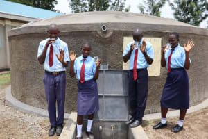 The Water Project: Friends School Vashele Secondary -  Students Posing At The Water Tank