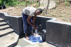 The Water Project: Mahira Community, Kusimba Spring -  Enjoying The Spring Water