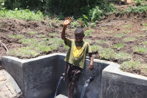 The Water Project: Mahira Community, Jairus Mwera Spring -  Obama Says Thank You