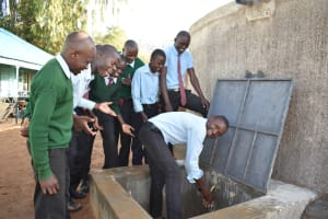 The Water Project: Ebubole UPC Secondary School -  Happiness And Smiles Because Of The New Water Point