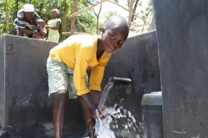 The Water Project: Mahira Community, Kusimba Spring -  Enjoying The Water