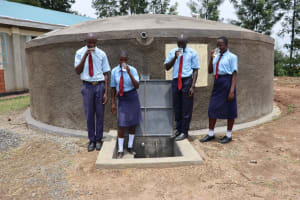 The Water Project: Friends School Vashele Secondary -  Students Enjoying Safe Clean Water