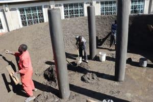 The Water Project: Friends School Vashele Secondary -  Inside Plaster
