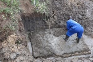 The Water Project: Mahira Community, Jairus Mwera Spring -  Foundation Setting And Marking