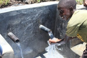 The Water Project: Mahira Community, Jairus Mwera Spring -  Water Celebrations With Obama