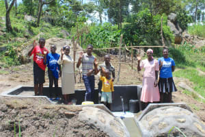 The Water Project: Mahira Community, Kusimba Spring -  Community Celebrates The Spring