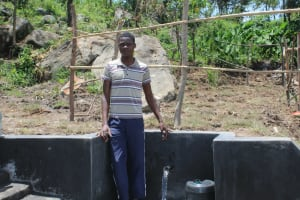 The Water Project: Mahira Community, Kusimba Spring -  Posing With The Spring