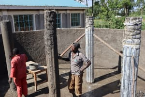 The Water Project: Friends School Vashele Secondary -  Pillars Of The Tank