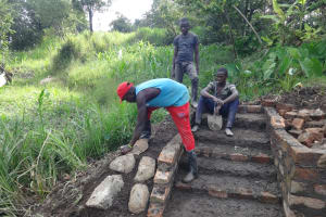 The Water Project: Mahira Community, Kusimba Spring -  Stone Pitching