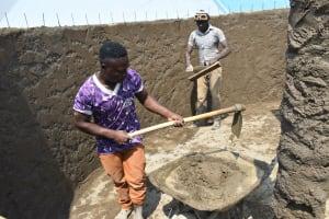 The Water Project: Ebubole UPC Secondary School -  Inner Wall Work