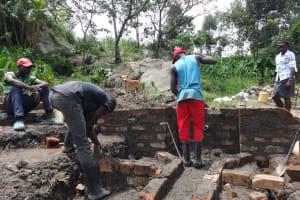 The Water Project: Mahira Community, Kusimba Spring -  Wall Construction