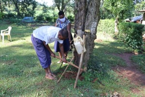 The Water Project: Shilakaya Community, Shanamwevo Spring -  Constructing A Handwashing Point