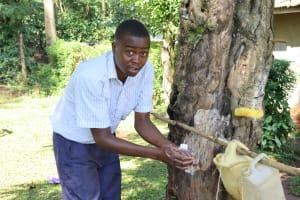The Water Project: Shilakaya Community, Shanamwevo Spring -  Demonstration Of Using Tippy Taps For Handwashing