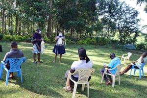 The Water Project: Shilakaya Community, Shanamwevo Spring -  Mask Making Demonstration