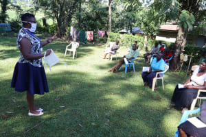 The Water Project: Shilakaya Community, Shanamwevo Spring -  Training On Importance And How To Wear A Mask