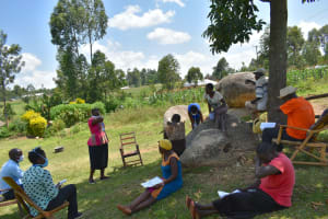 The Water Project: Musango Community, Jared Lukoko Spring -  Ongoing Covid Sensitization Training